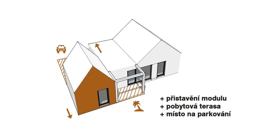 Schéma typového domu Singl