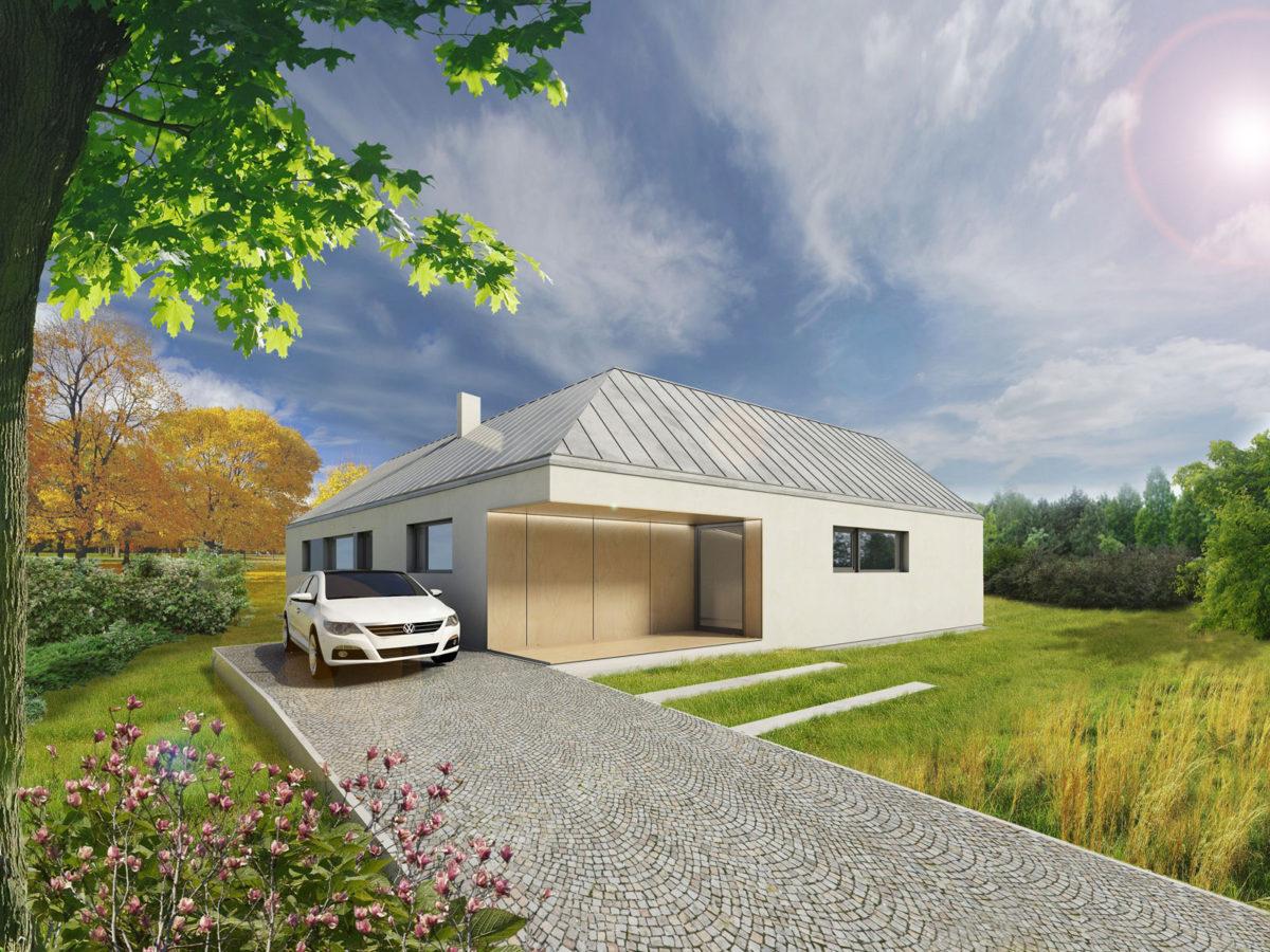 Varianta se sedlovou střechou bez garáže
